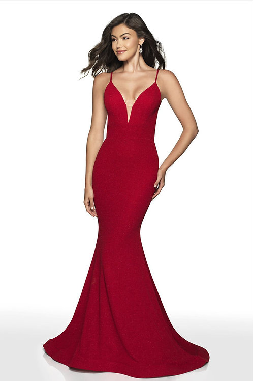 Red Deep Love Gown