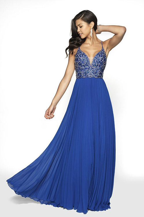 Royal Blue Strappy Gown
