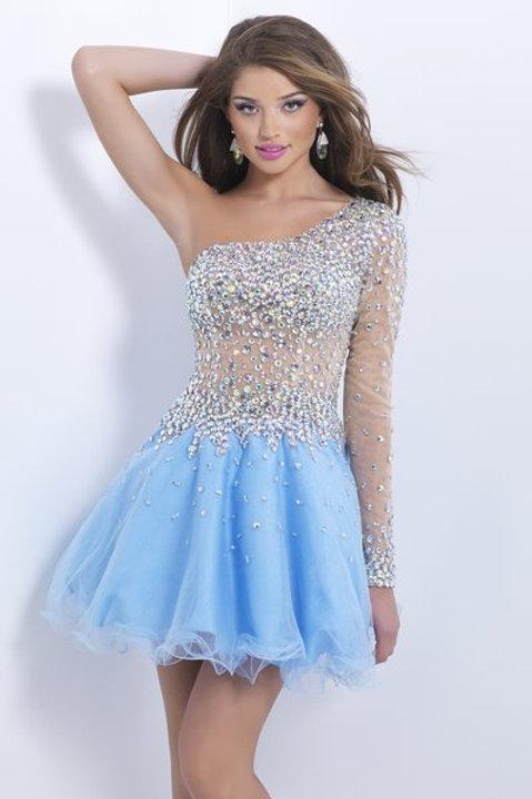 Gorgeous One Shoulder Cocktail Dress