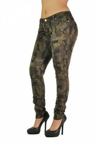 Glam Camico Print Jeans