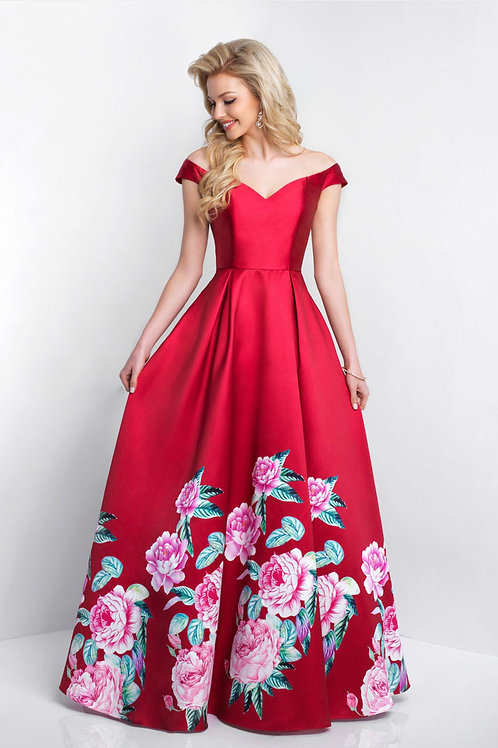Red Flowers Gown