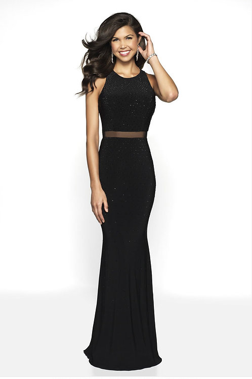 Black Beaded Glam Gown