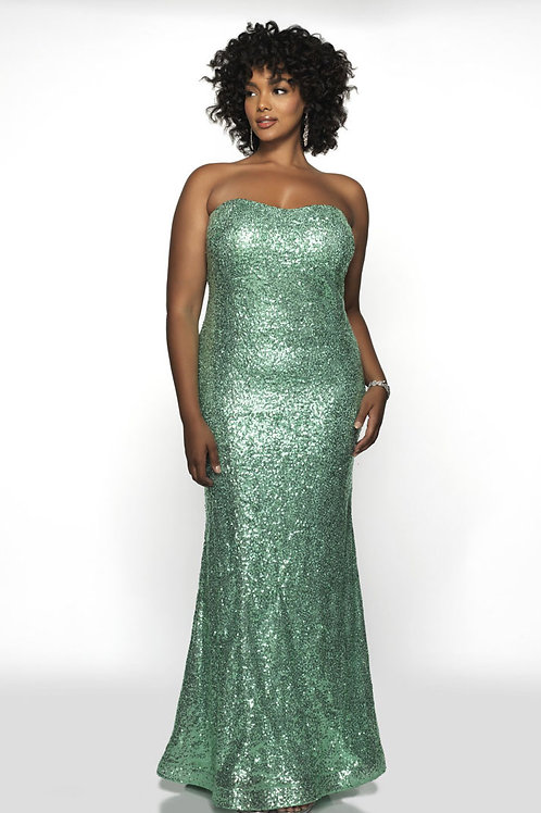 Green Glam Gown
