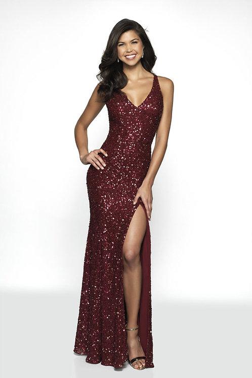 Burgundy Blitz Me Gown