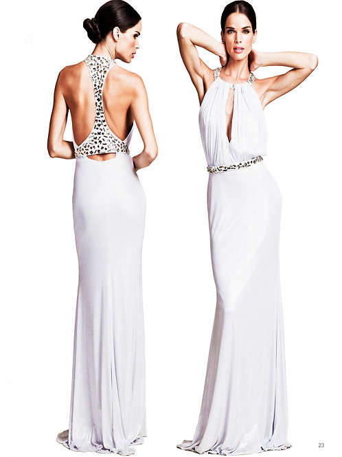White Rhinestone Gown