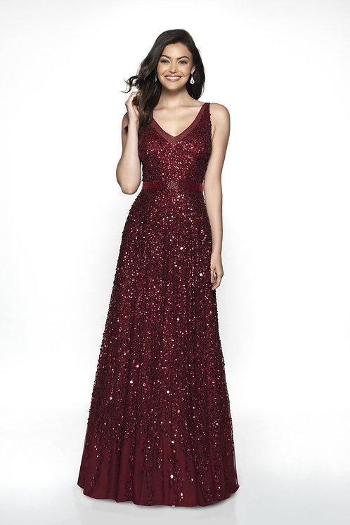 Burgundy Lady Gown