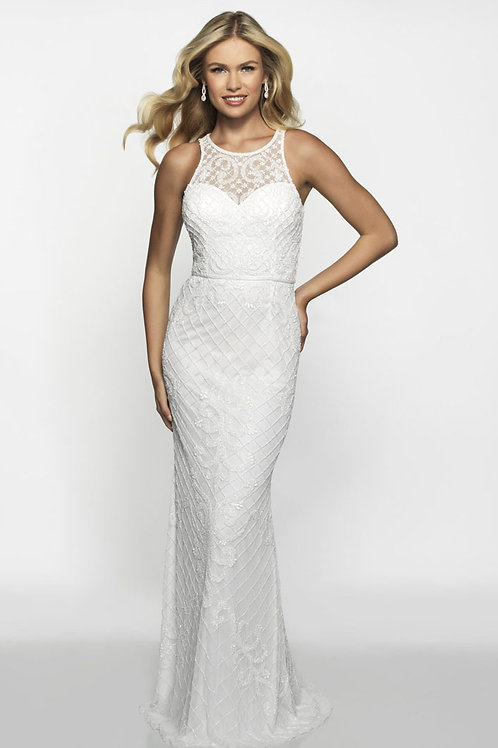 White Patterns Gown