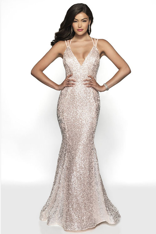 Strappy Sparkle Gown