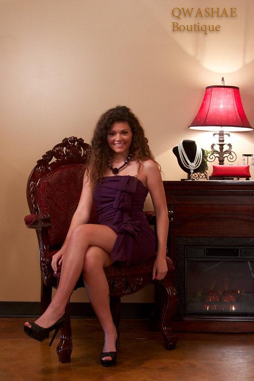 Purple Frills Dress