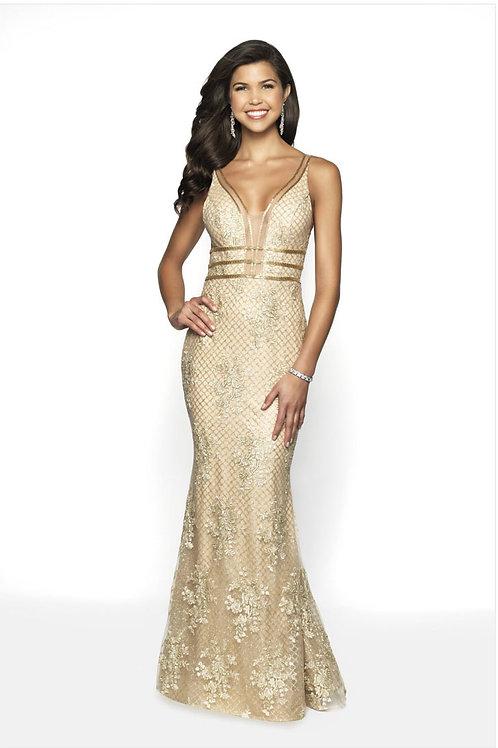 Gold Glitter Girl Gown