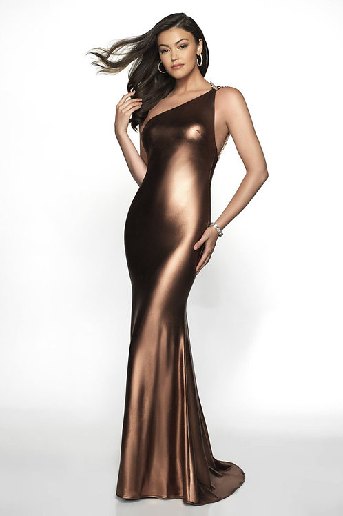 Satin Chocolate Gown