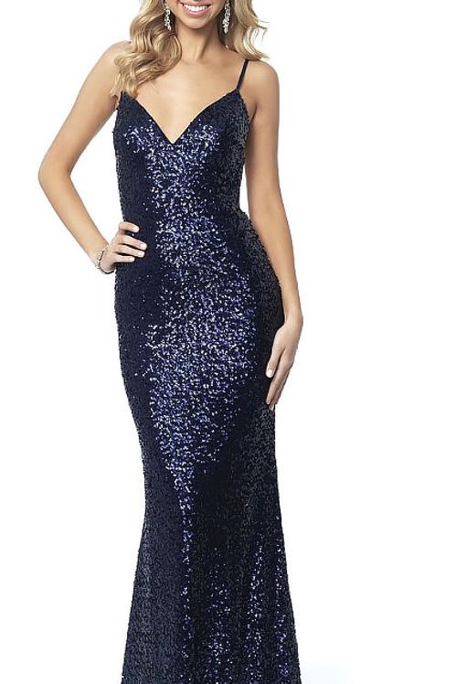 Navy Blue Sparkle Gown