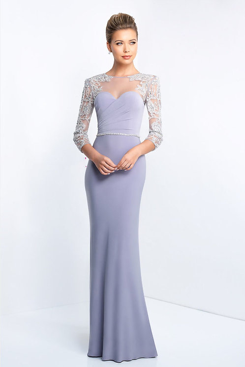 Lavender Dramatic Arms Gown