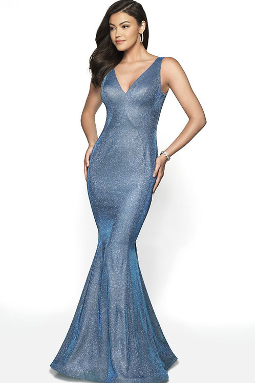 Light Blue Bow Gown