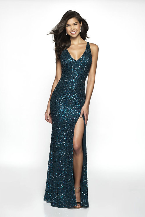 Blue Blitz Me Gown