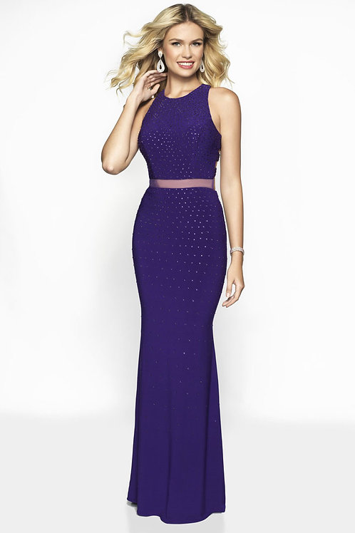 Purple Beaded Glam Gown