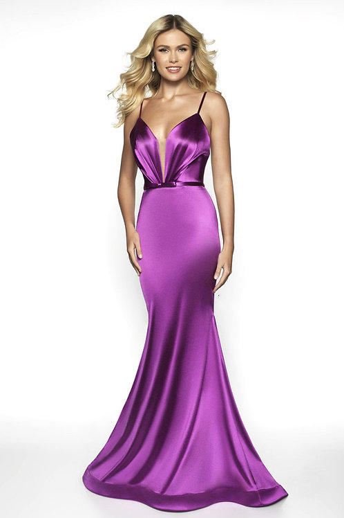 Purple Satin Queen Gown