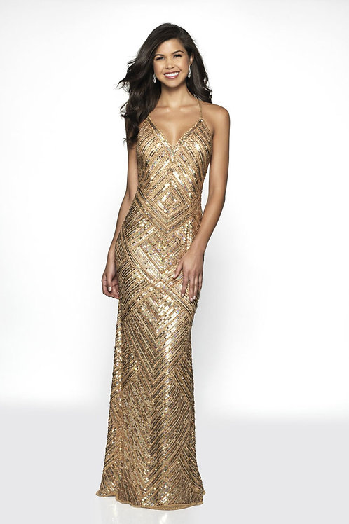 Gold Sexy Back Gown