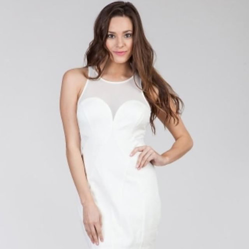 White Sheer Party Dress