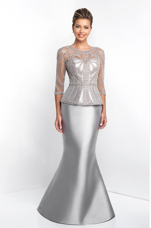 Silver Elegance Gown