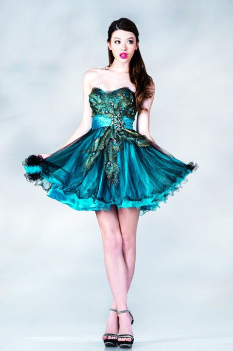 Peacock Blue Cocktail Dress