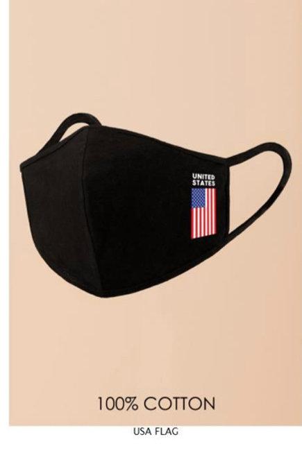Protruding USA Flag Face Mask