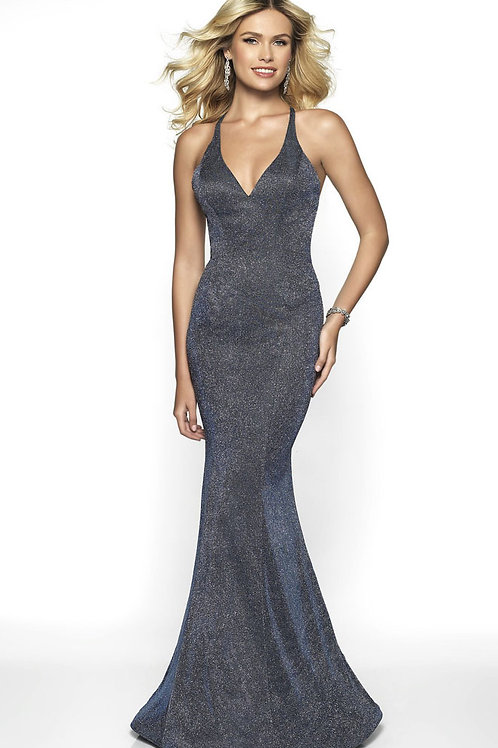 Charcoal Champagne Sparkle Gown
