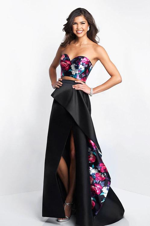 Black Subtle Bouquet Gown