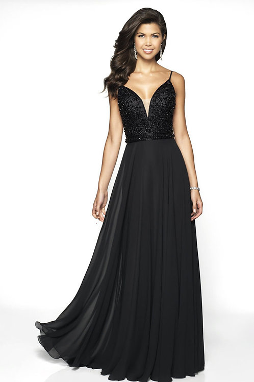 Black Beaded Beauty Gown