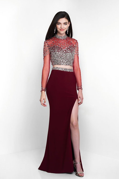 Red Accented Sleeve Gown