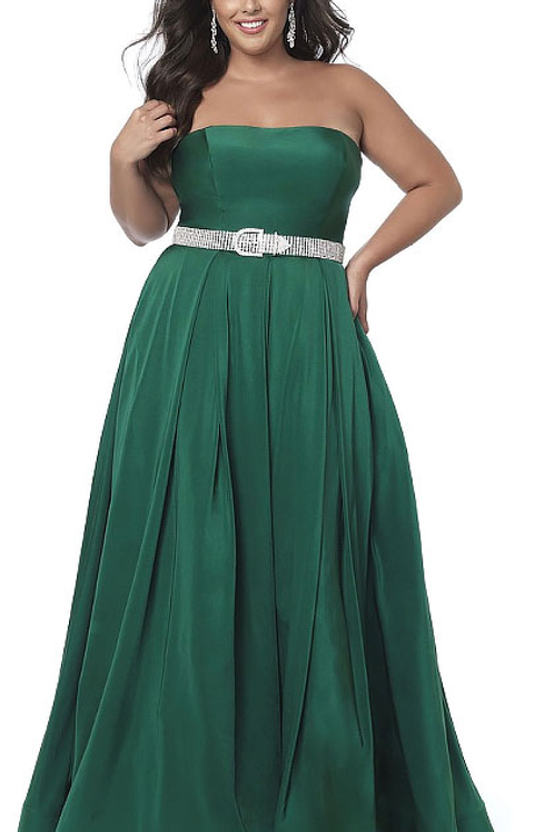 Satin Green Gown