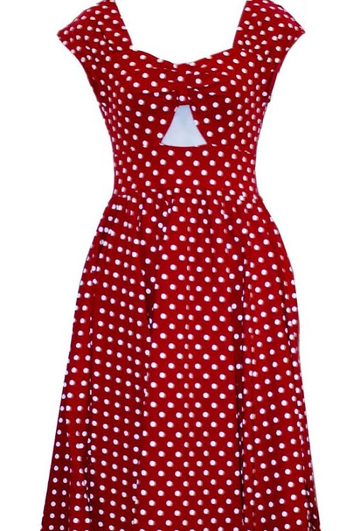 Twisted Dream Dress in Red