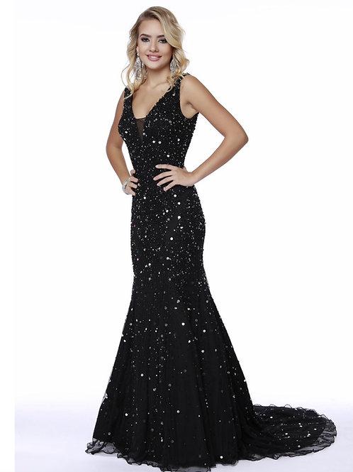 Black Glitz Gown