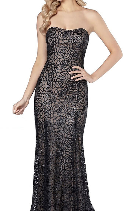 Give Me Roses Black Lace Gown