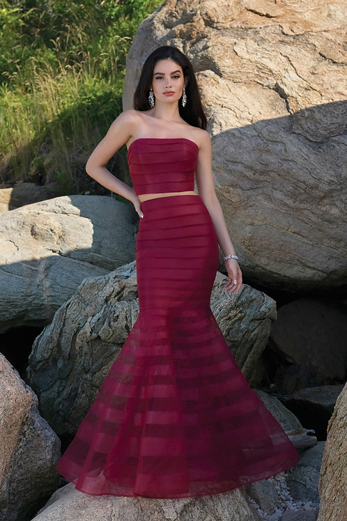 Two-Piece Mermaid Flare Gown