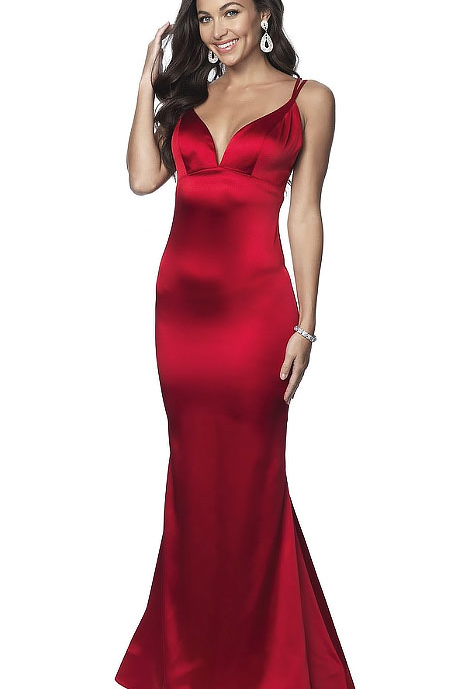 Silky Red Mermaid Gown