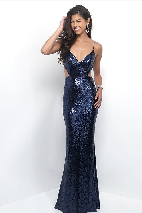 Navy Backless Gown