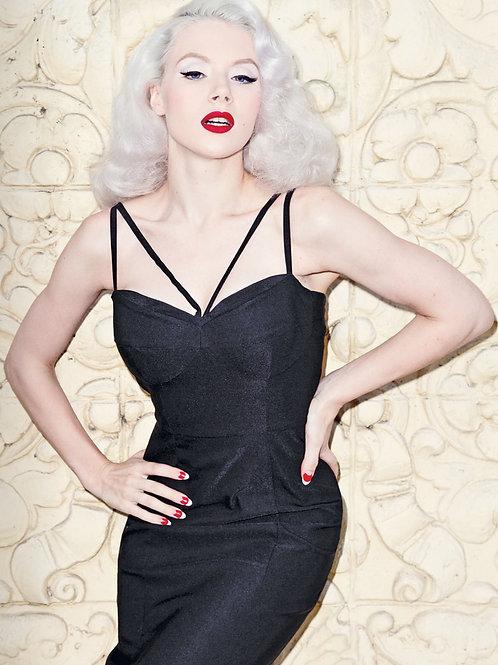 Black Straps Dress