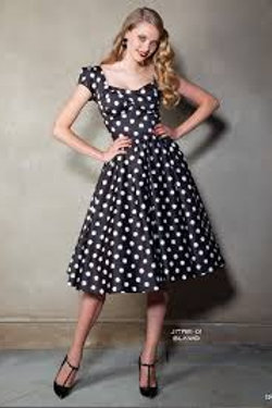 Polka-Dot Swing Dress