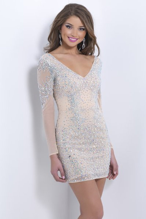 Dazzling Cocktail Dress With Sleeves