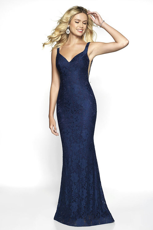Navy Pure Lace Gown