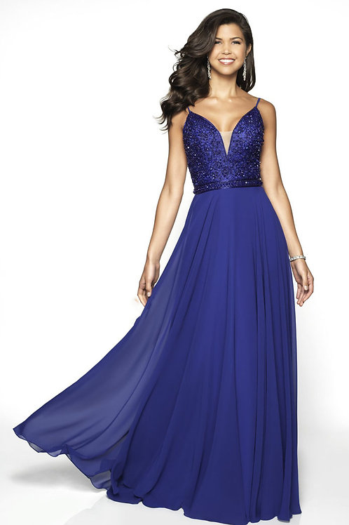 Blue Beaded Beauty Gown