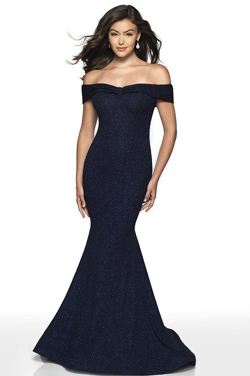 Navy Bella Gown