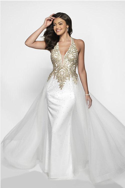 White Dramatic Gown