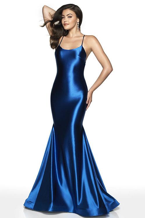 Blue Metallic Star Gown