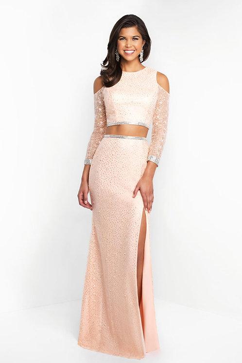 Pink Shoulder Cutout Gown
