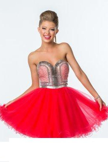 Darling Short Red Gown