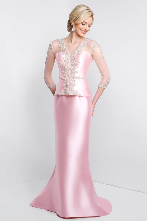 Pink Sleeved Gown