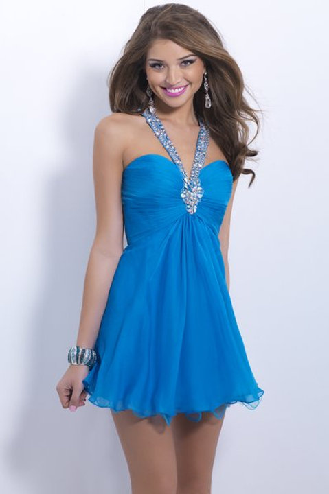 Pretty in Blue Short Dress