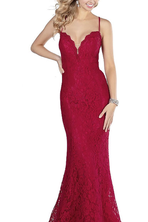 Fall In Love Red Lace Gown